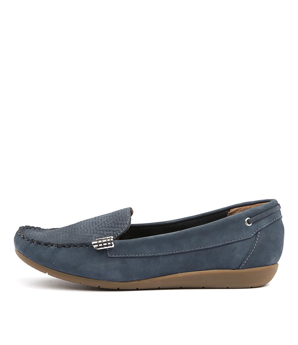 Supersoft France Denim Flat Shoes
