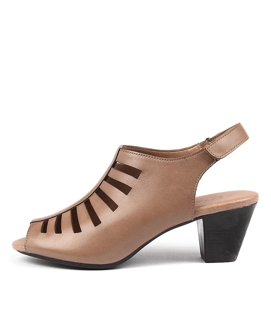 Supersoft Inessa Dark Tan Heeled Sandals