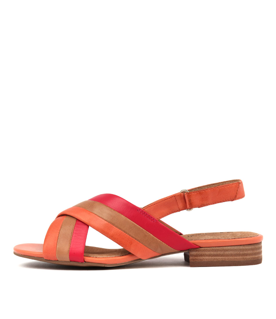 Supersoft Varina Orange Multi Sandals