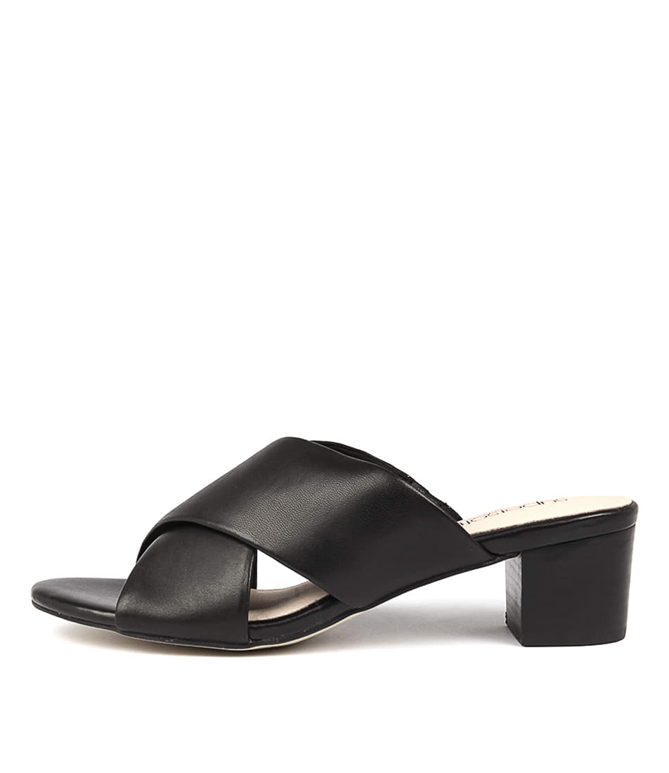 Supersoft Cancun Black Casual Heeled Sandals