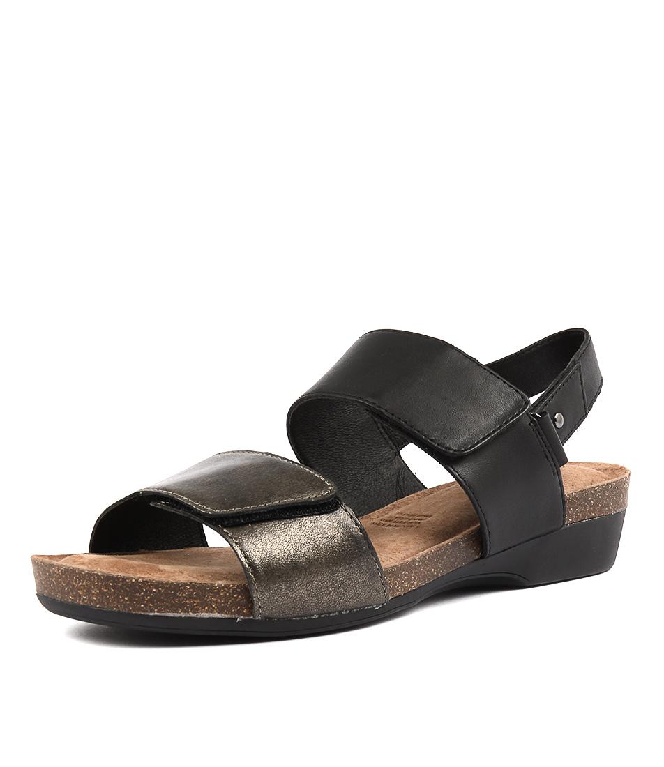 Supersoft Quandel Black Pewter Sandals