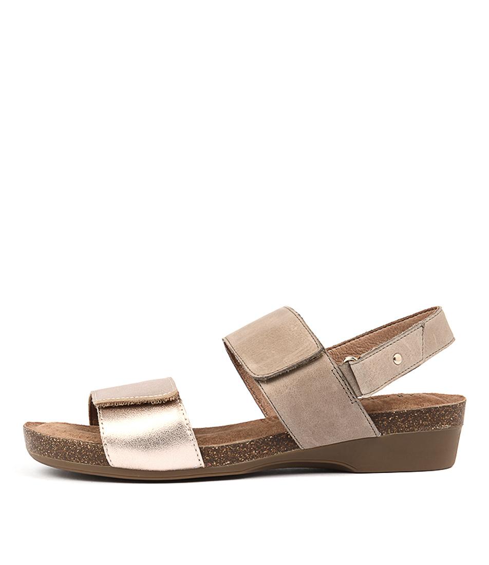 Supersoft Quandel Mink Rose Gold Casual Heeled Sandals
