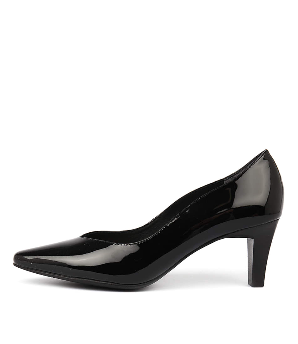 Supersoft Martine Su Black Heeled Shoes