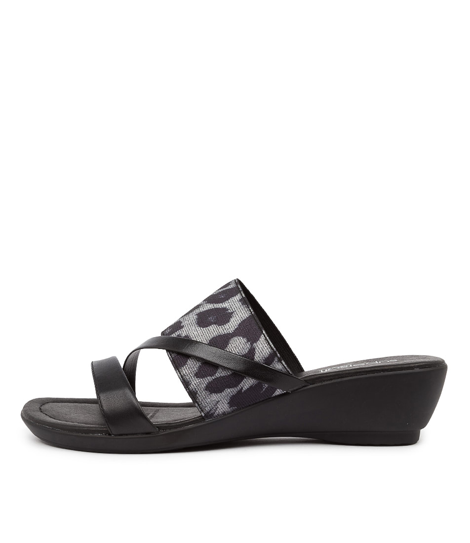 Buy Supersoft Penrose Black Leopard Heeled Sandals online with free shipping