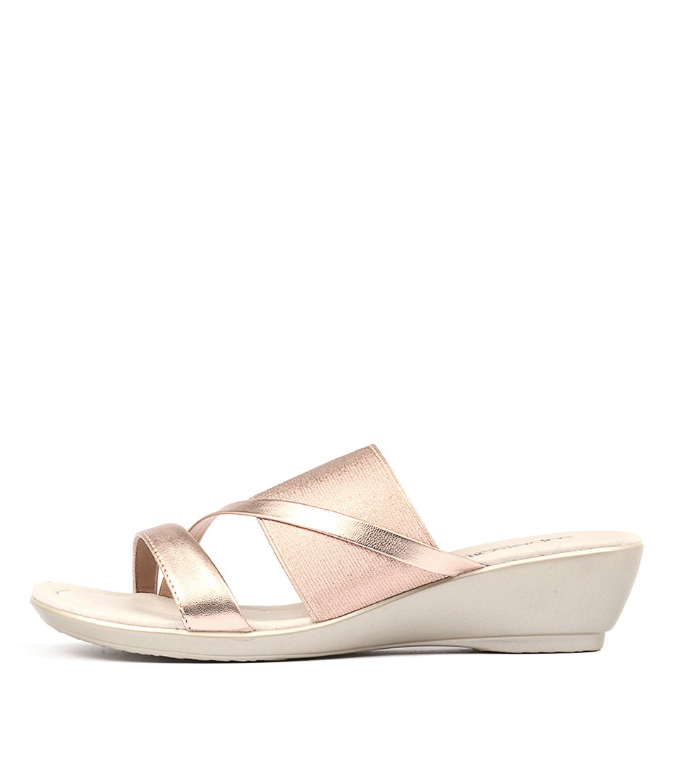 Supersoft Penrose Rose Gold Casual Heeled Sandals