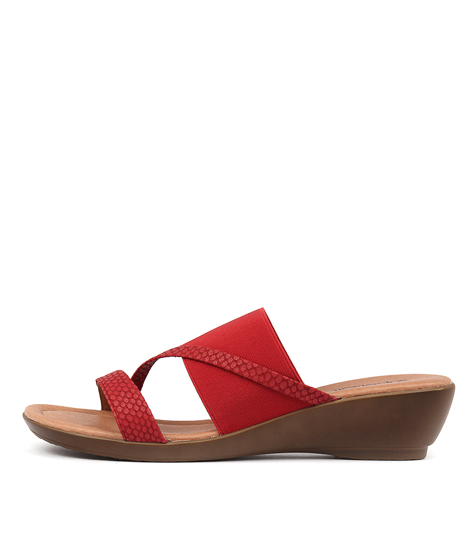Supersoft Penrose Red Casual Heeled Sandals