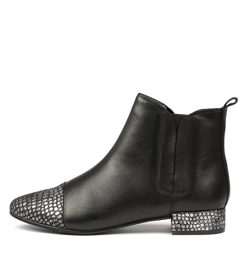 Supersoft Novette Black Comfort Ankle Boots