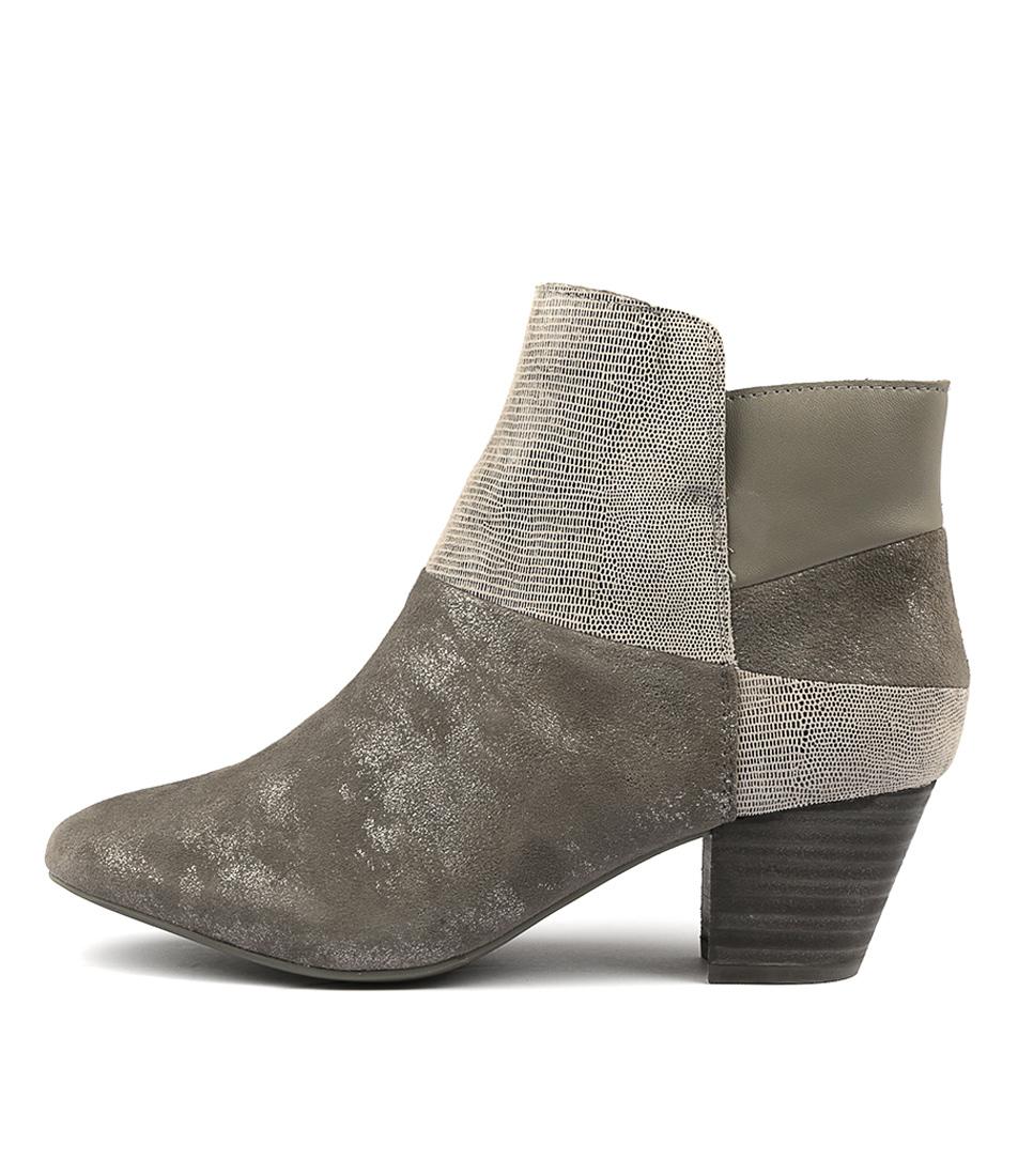 Supersoft Hennie Gunmetal Ankle Boots