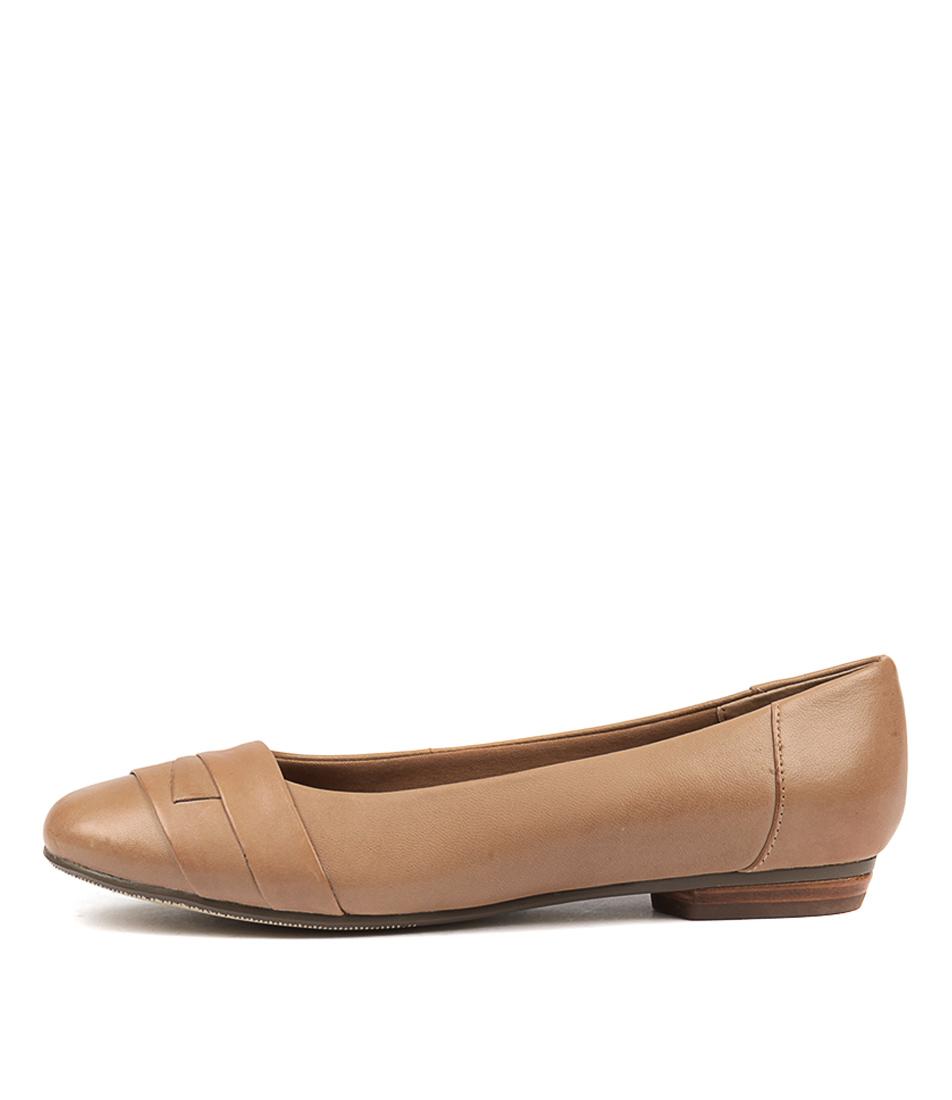 Supersoft Claudea Tan Flat Shoes