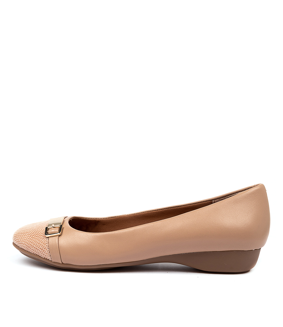 Buy Supersoft Ervine Nude Flats online with free shipping