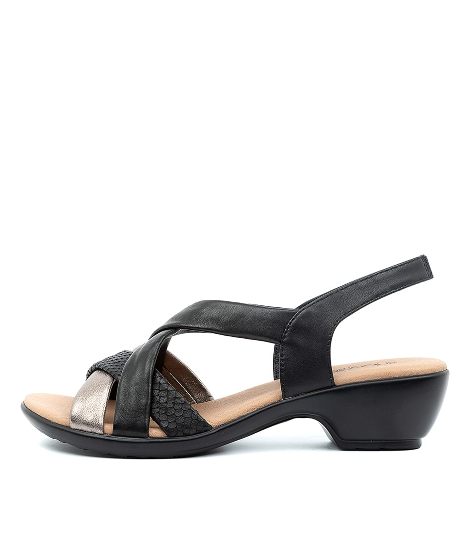Buy Supersoft Demala Black Multi Heeled Sandals online with free shipping