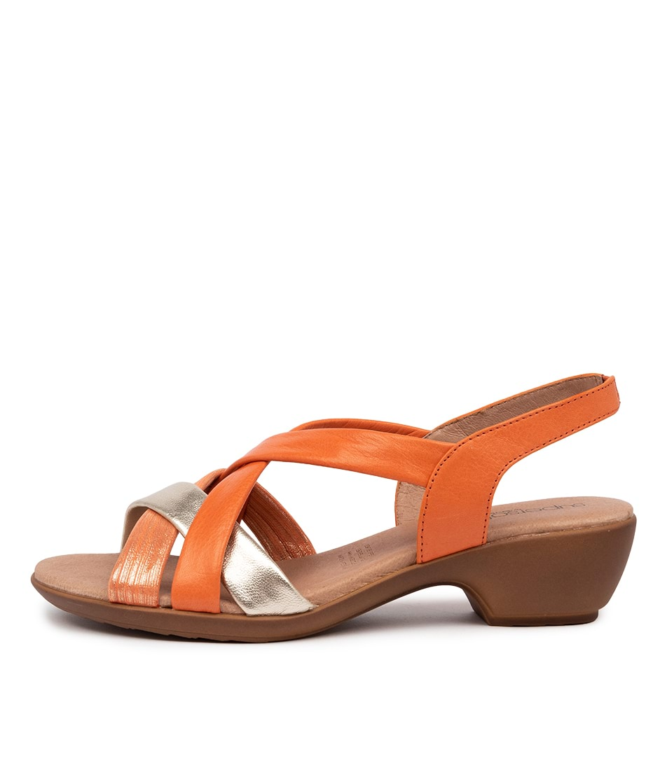 Buy Supersoft Demala Orange Multi E Heeled Sandals online with free shipping