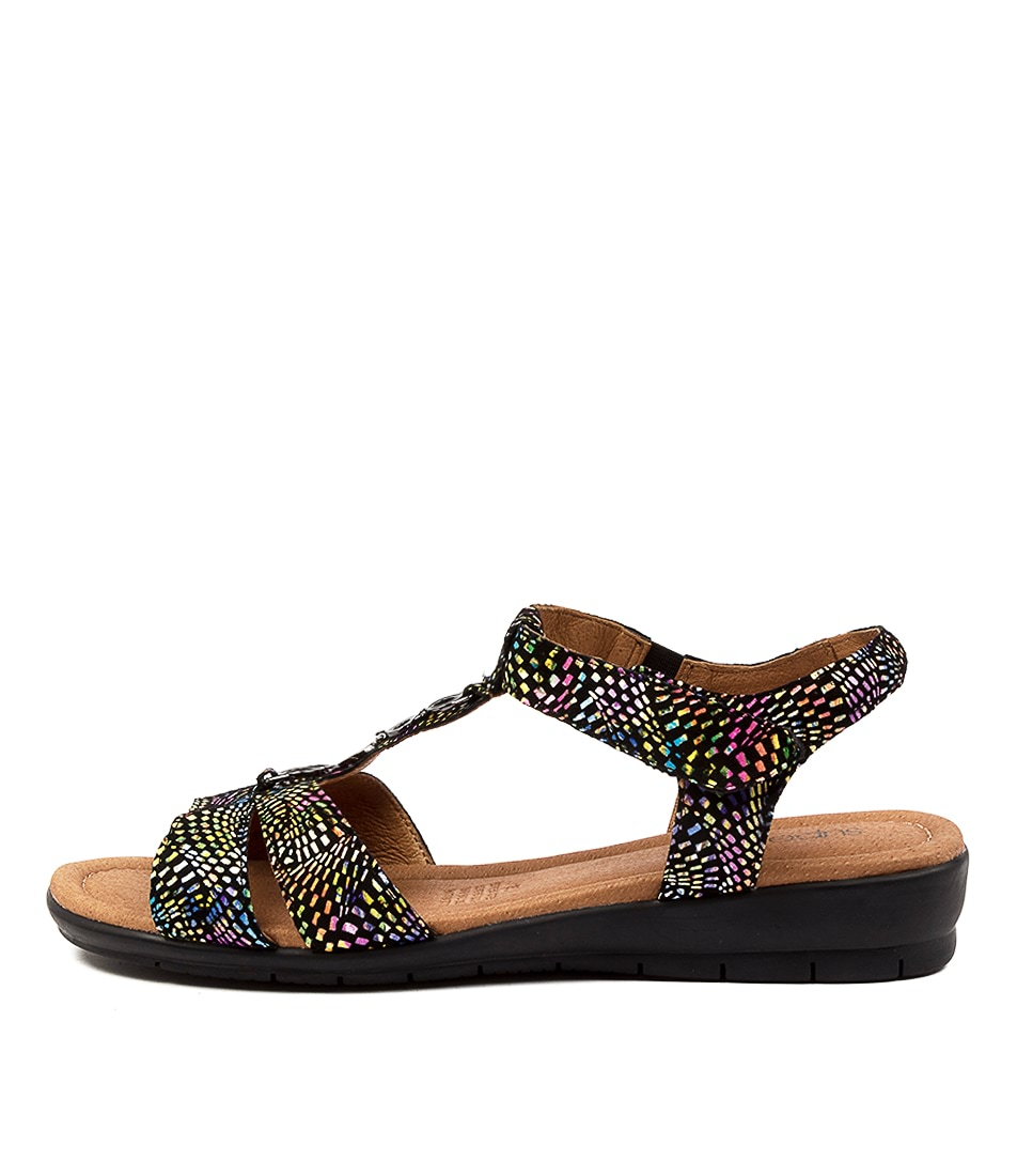 Buy Supersoft Ferraro Black Multi Heeled Sandals online with free shipping