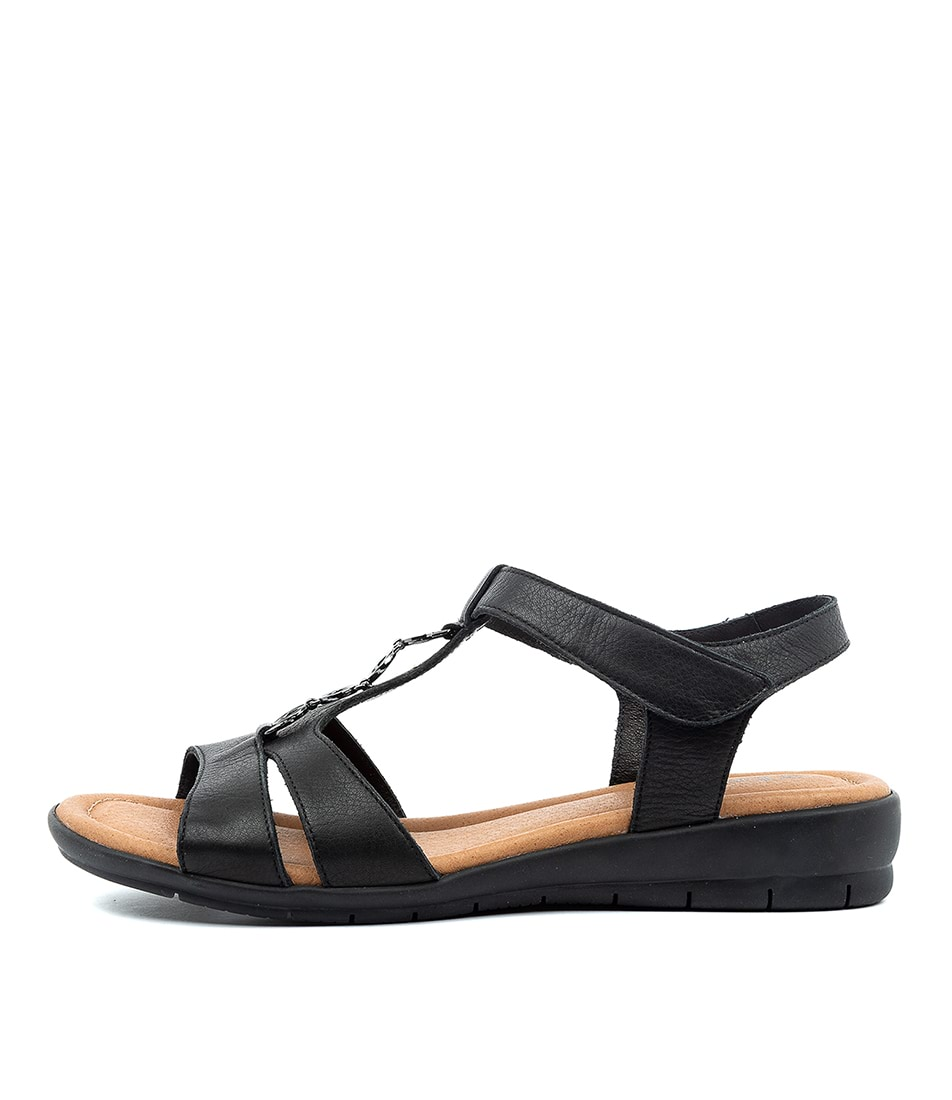 Buy Supersoft Ferraro Black E Flat Sandals online with free shipping