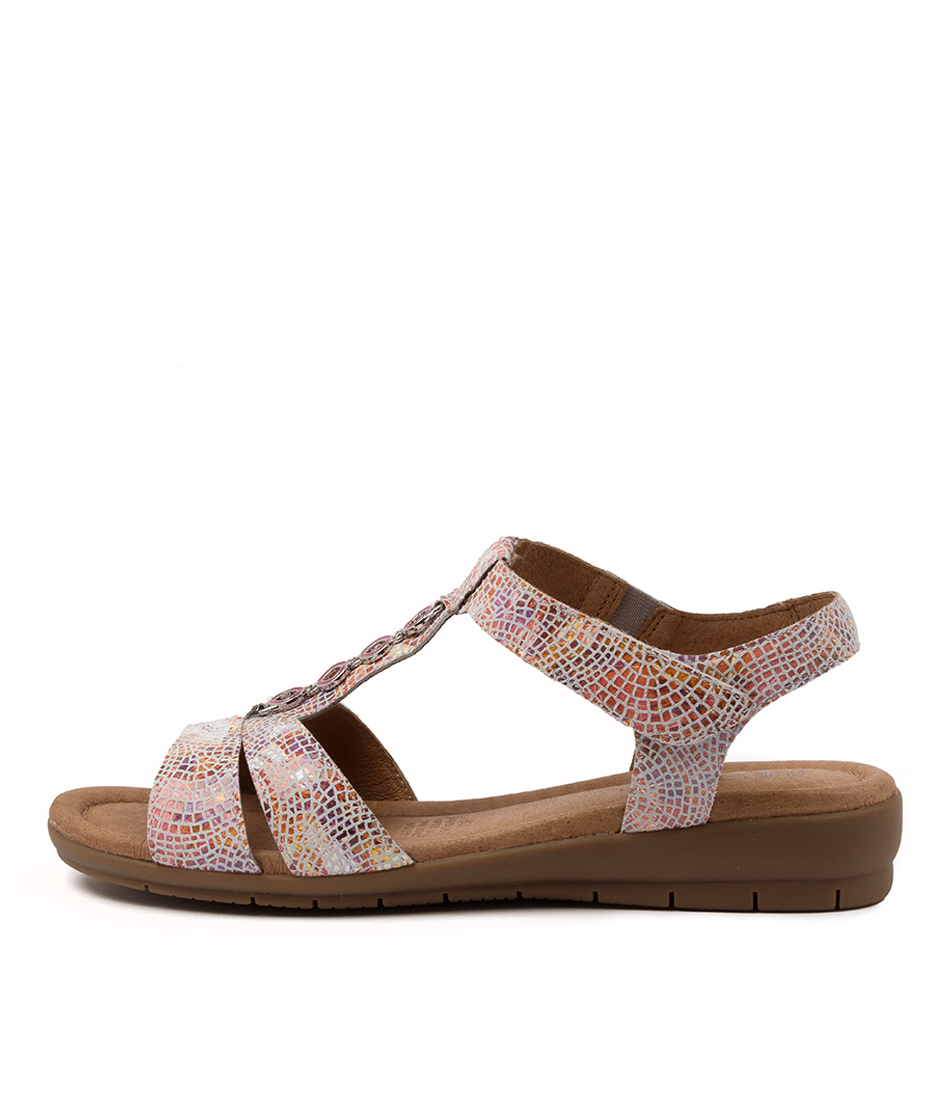 Buy Supersoft Ferraro Fuchsia Multi Heeled Sandals online with free shipping