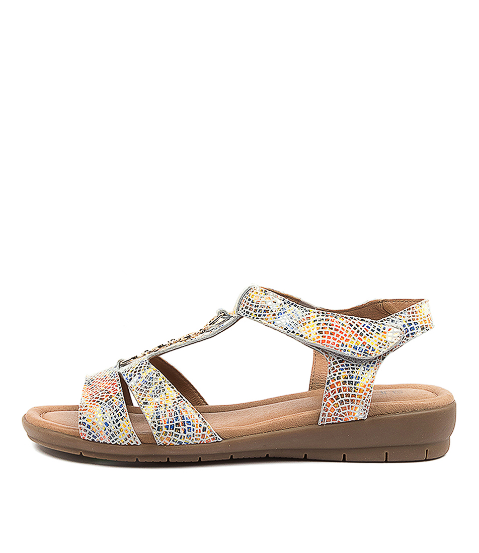 Buy Supersoft Ferraro Yellow Multi Heeled Sandals online with free shipping
