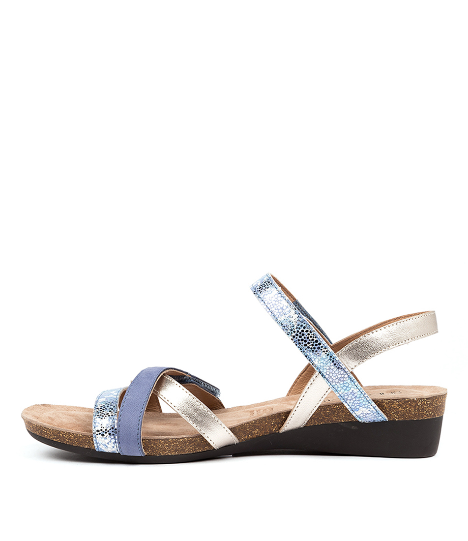 Buy Supersoft Queisha Blue Multi Flat Sandals online with free shipping