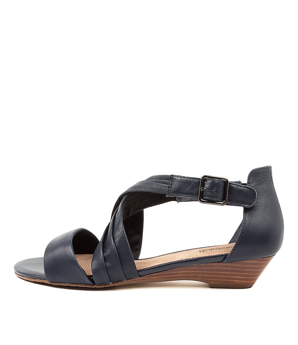 Buy Supersoft Baelon Navy Flat Sandals online with free shipping