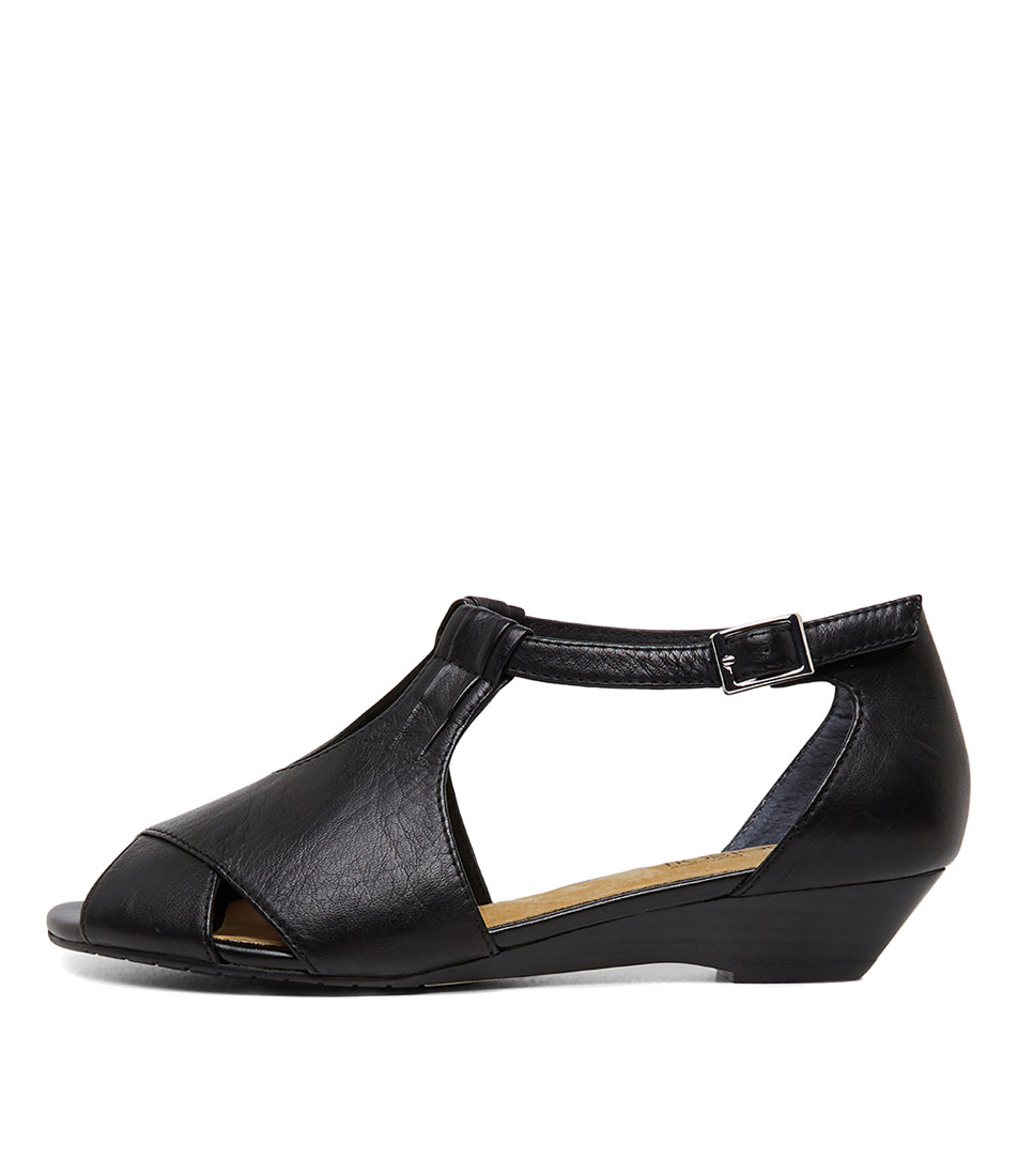 Buy Supersoft Bono2 Black Heeled Sandals online with free shipping