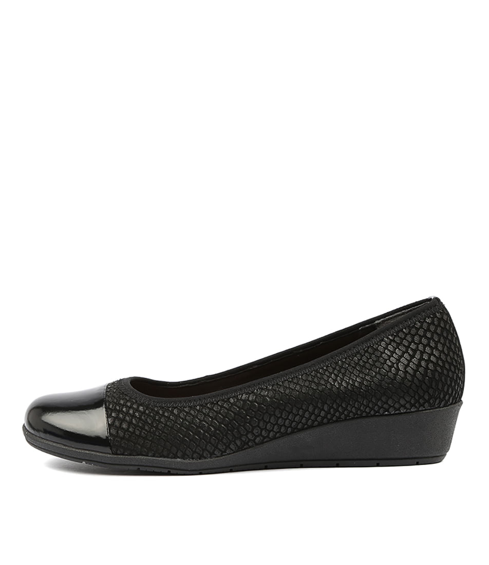 Buy Supersoft Fergy Black Flats online with free shipping