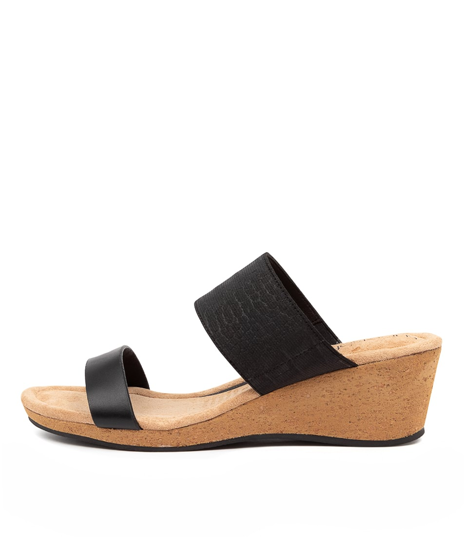 Buy Supersoft Brazil Su Black Heeled Sandals online with free shipping