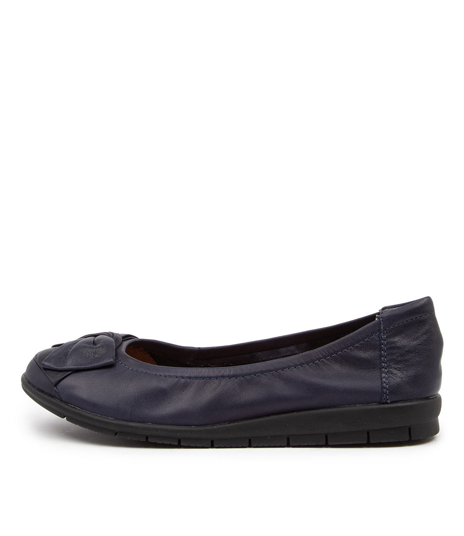 Buy Supersoft Fransisco2 Su Navy Flats online with free shipping