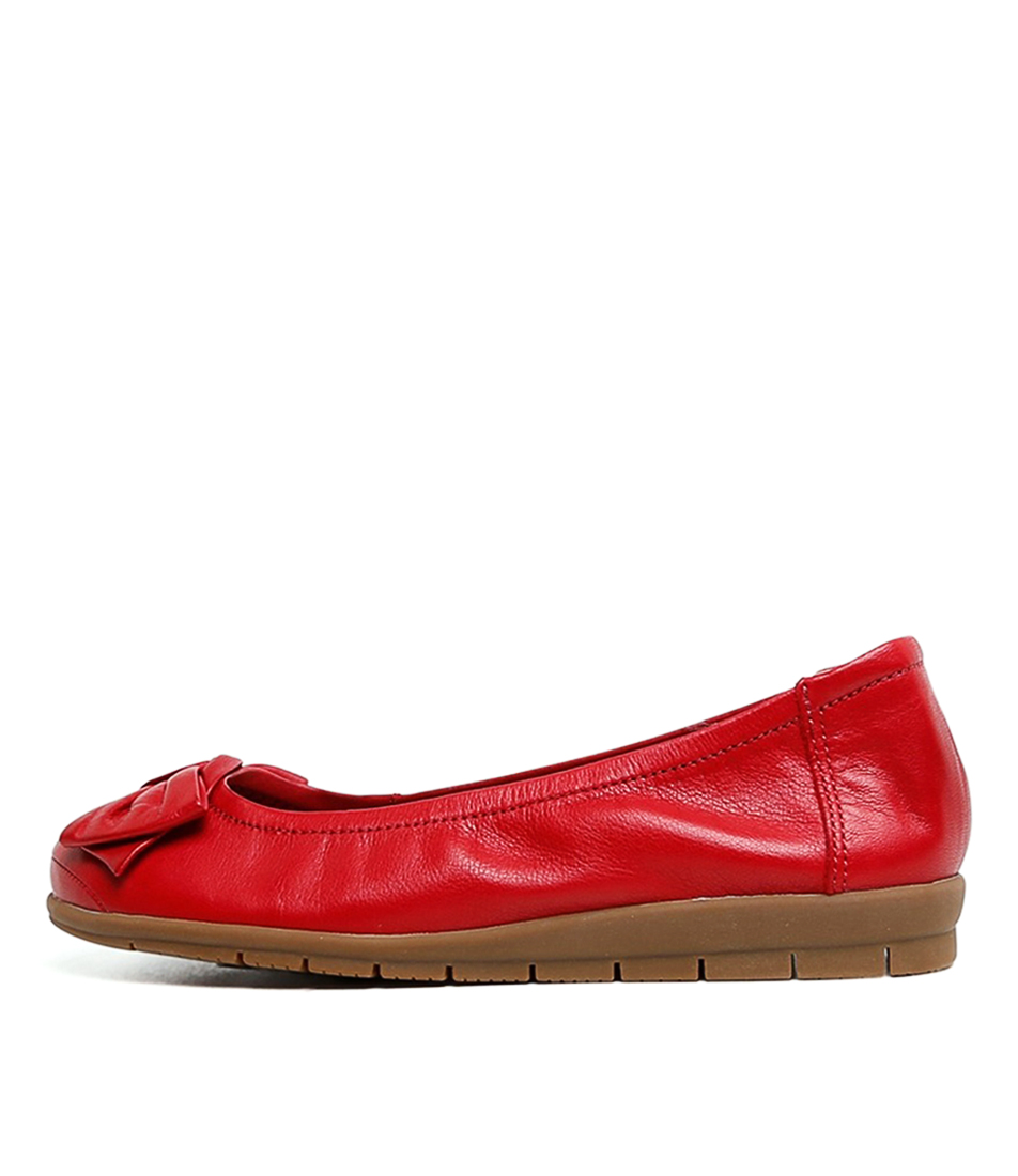 Buy Supersoft Fransisco2 Su Red Flats online with free shipping