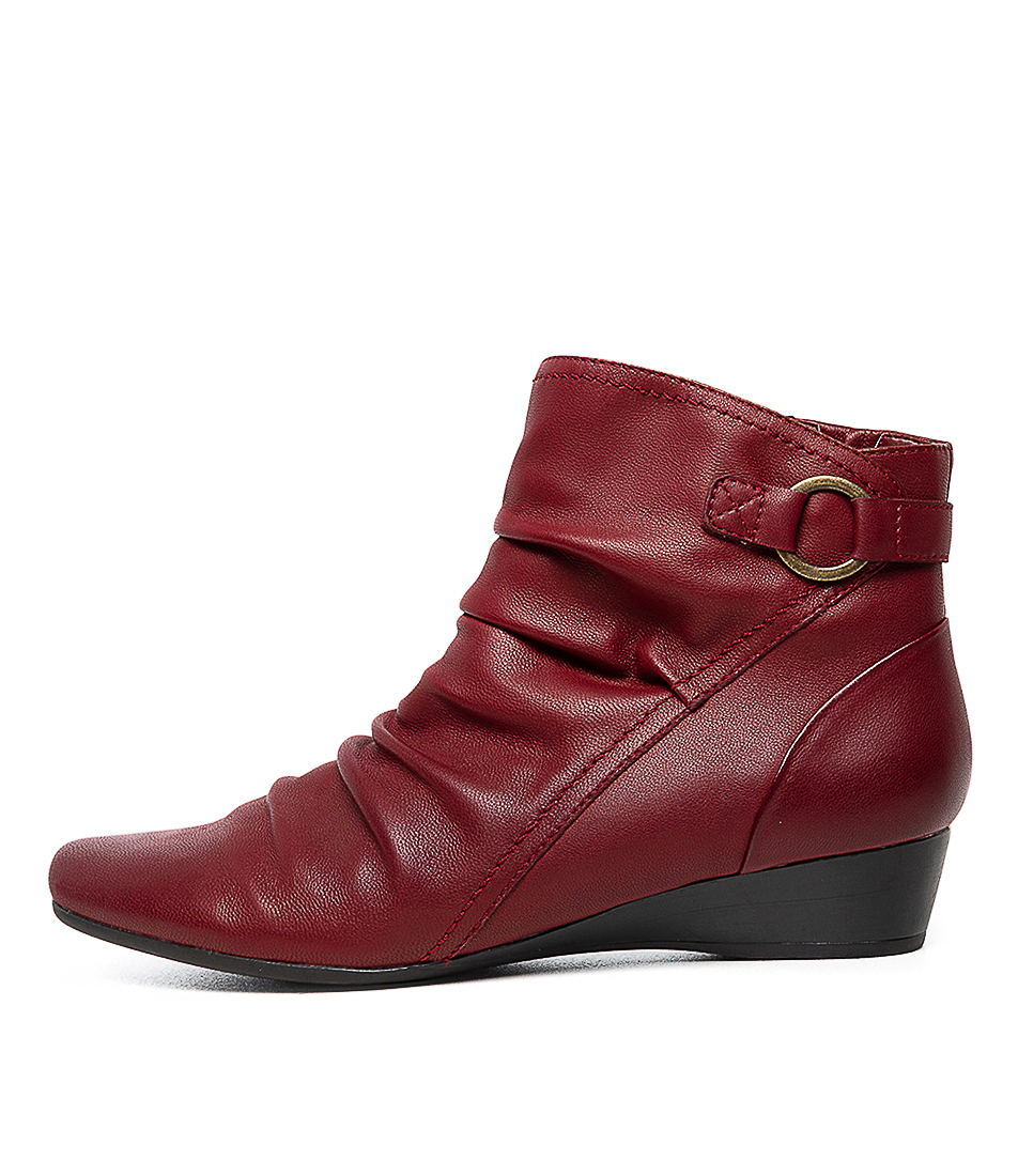 Buy Supersoft Reuben Su Red Ankle Boots online with free shipping