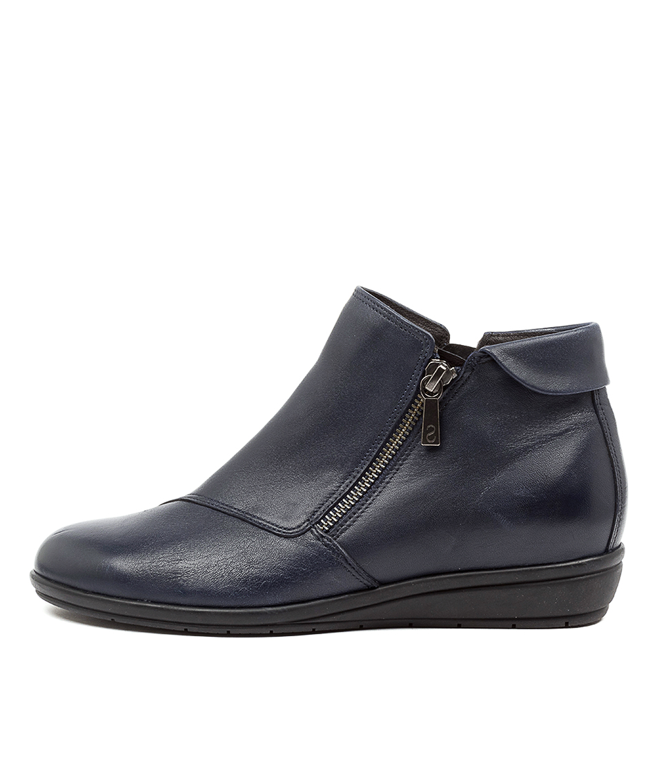 Buy Supersoft Feyre Su Navy Ankle Boots online with free shipping