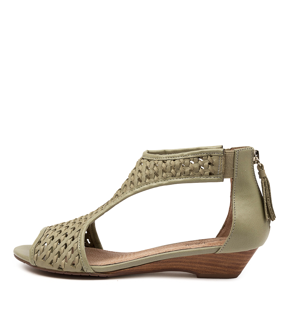 Buy Supersoft Burns Su Pale Khaki Heeled Sandals online with free shipping