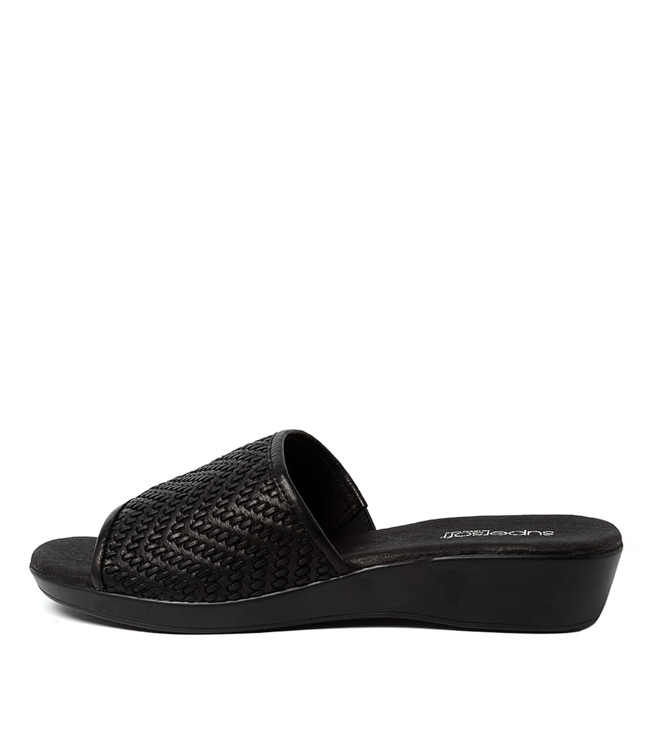 Buy Supersoft Adamson Su Black E Heeled Sandals online with free shipping