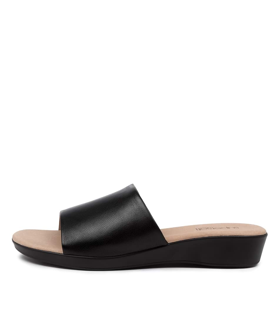 Buy Supersoft Albury2 Su Black Flat Sandals online with free shipping