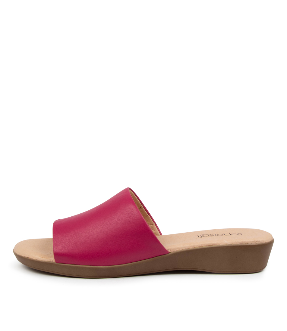 Buy Supersoft Albury2 Su Fuchsia Flat Sandals online with free shipping