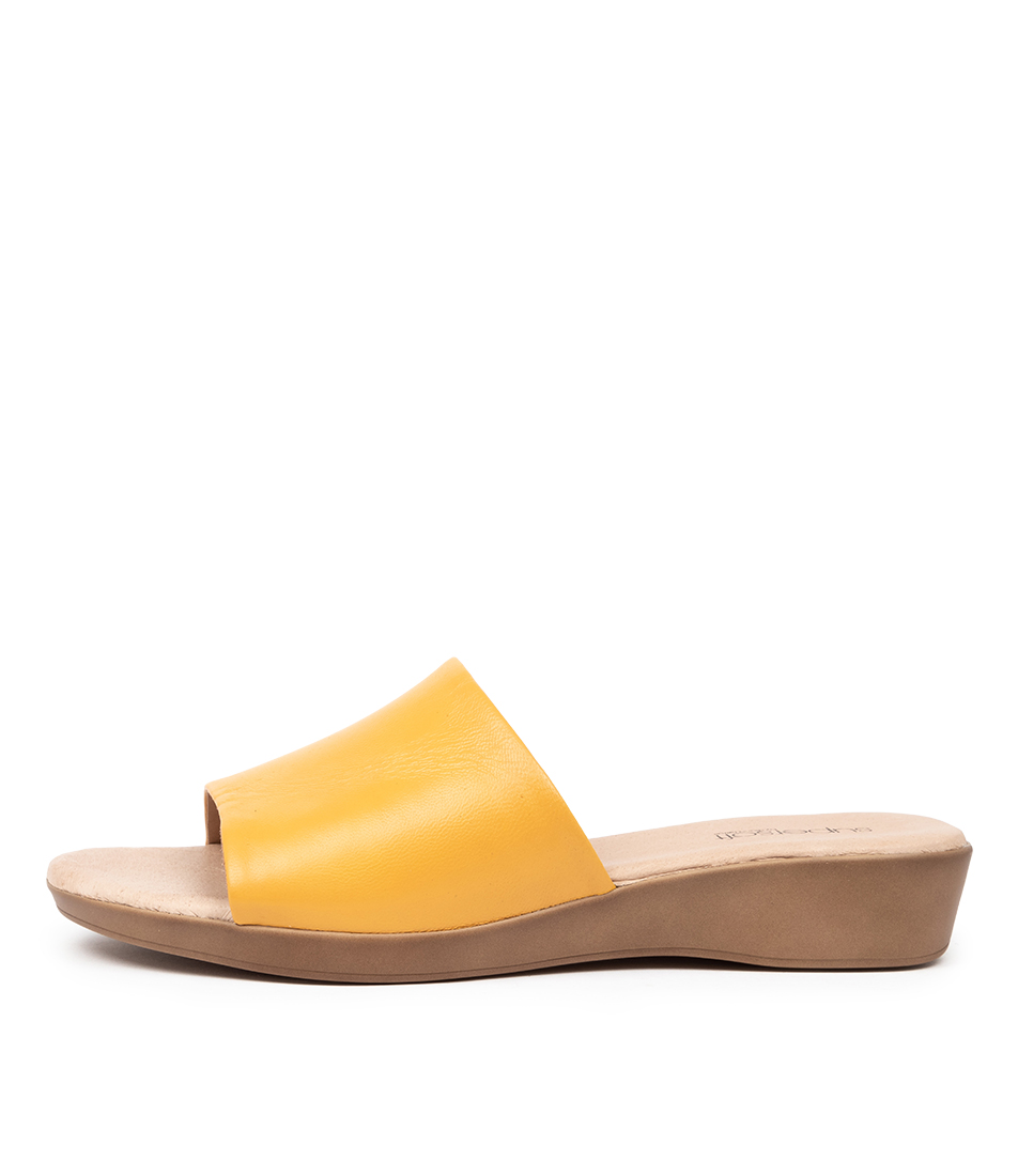 Buy Supersoft Albury2 Su Yellow Flat Sandals online with free shipping