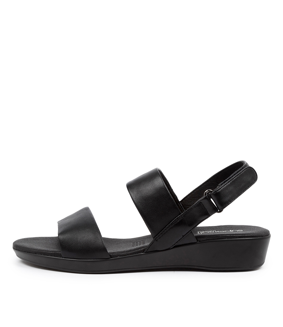 Buy Supersoft Anastasi2 Su Black Flat Sandals online with free shipping