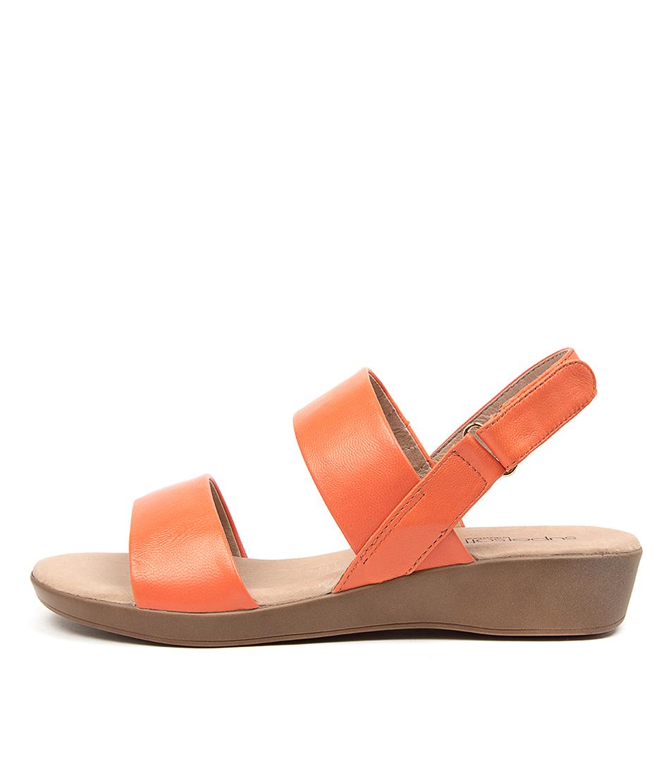 Buy Supersoft Anastasi2 Su Orange Flat Sandals online with free shipping