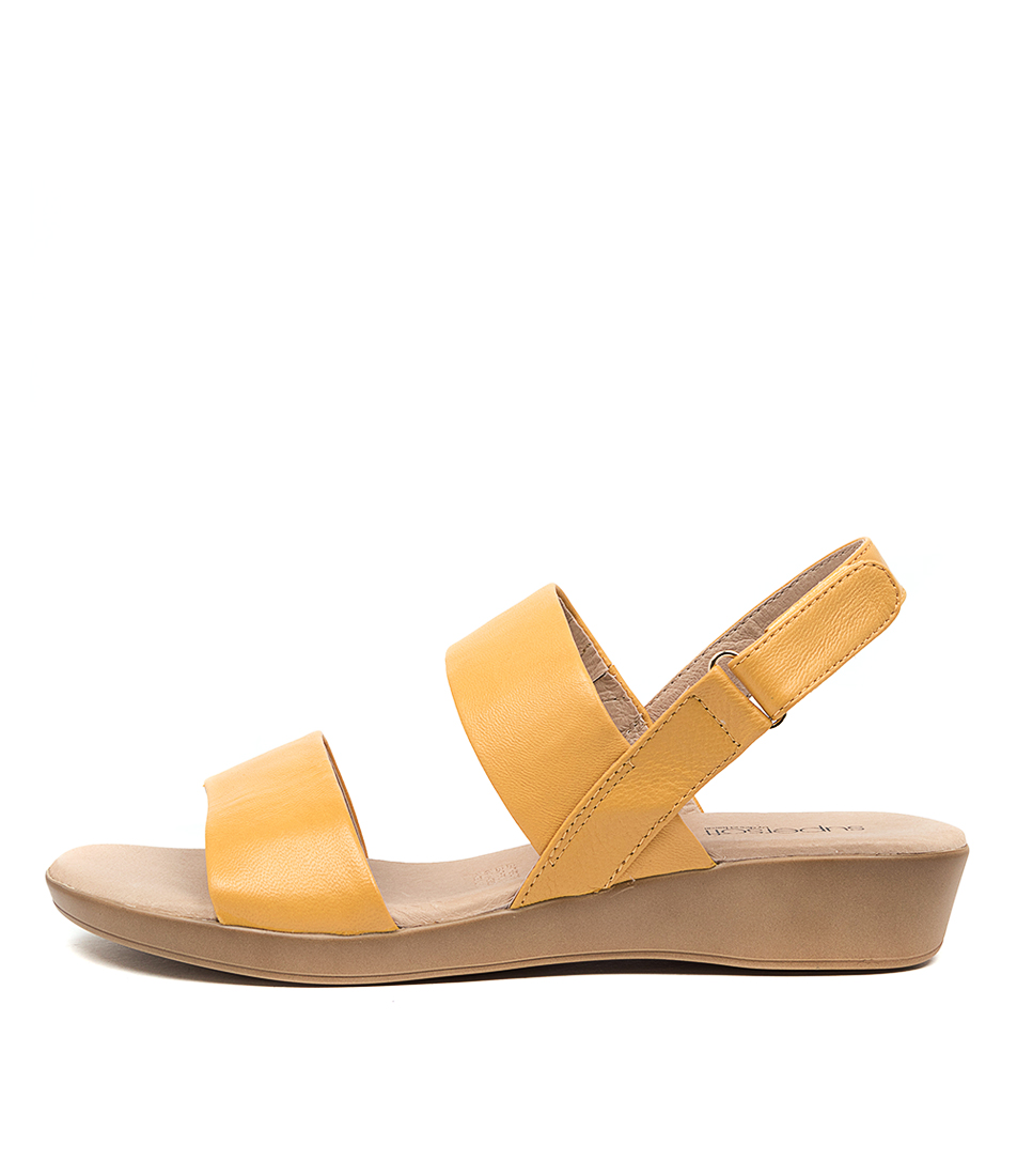 Buy Supersoft Anastasi2 Su Yellow Flat Sandals online with free shipping