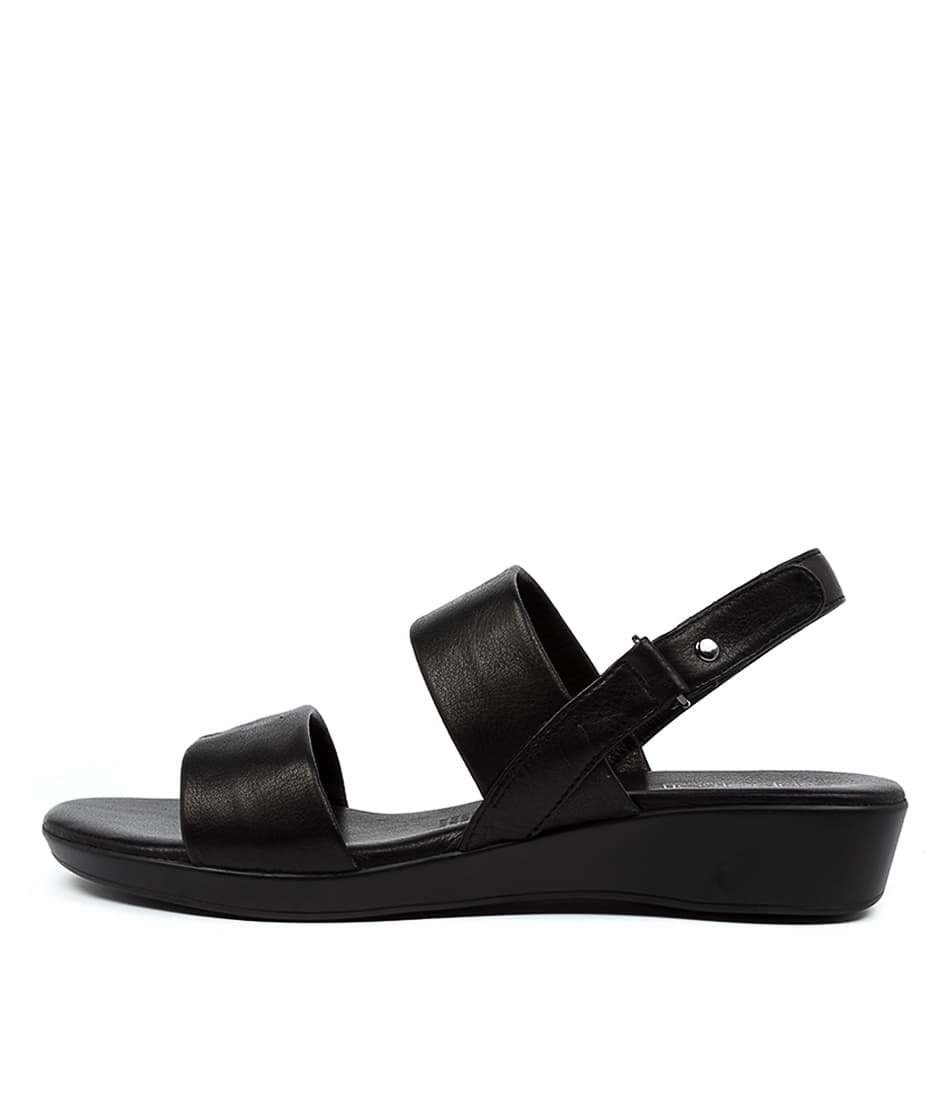 Buy Supersoft Anastasi Su Black E Flat Sandals online with free shipping