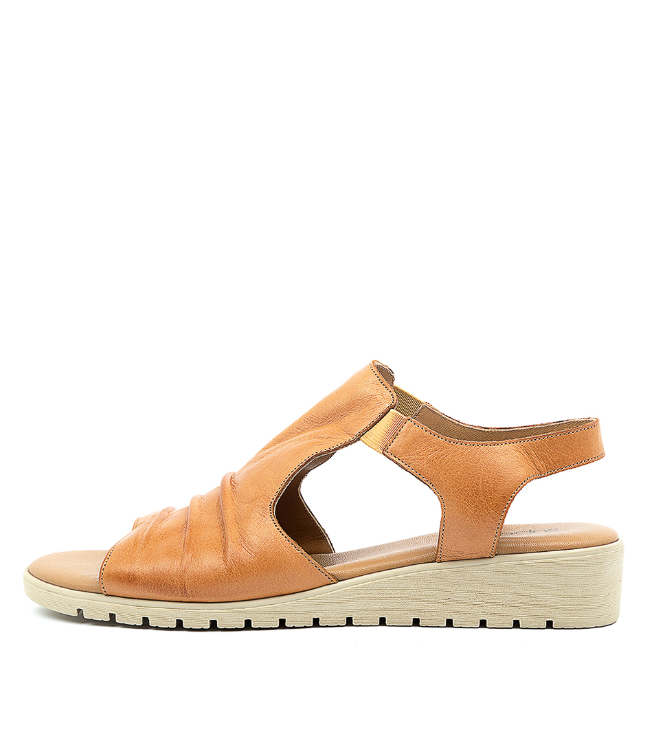 Buy Supersoft Harlan Su Tan E Flat Sandals online with free shipping