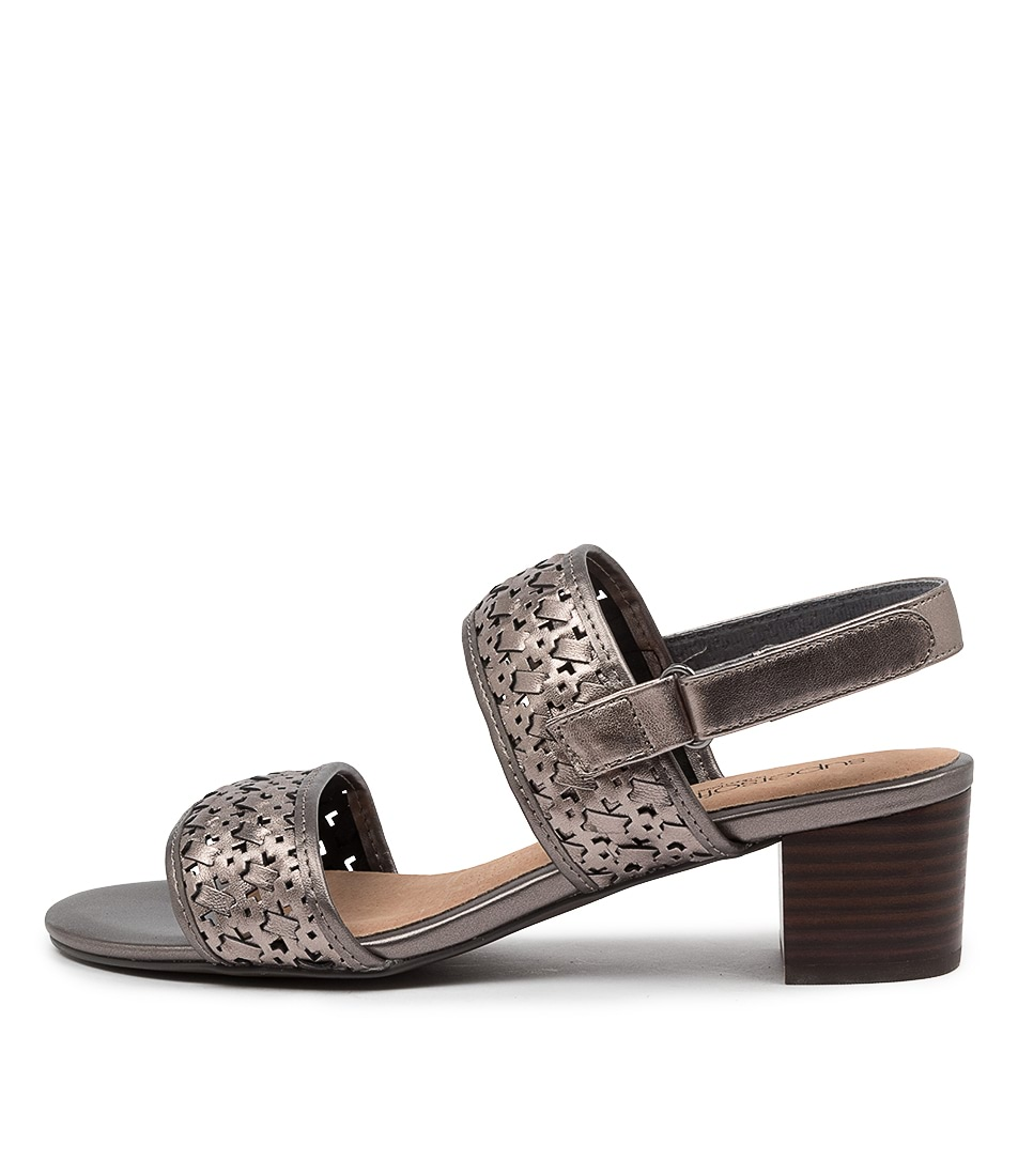 Buy Supersoft Castello Su Pewter Heeled Sandals online with free shipping