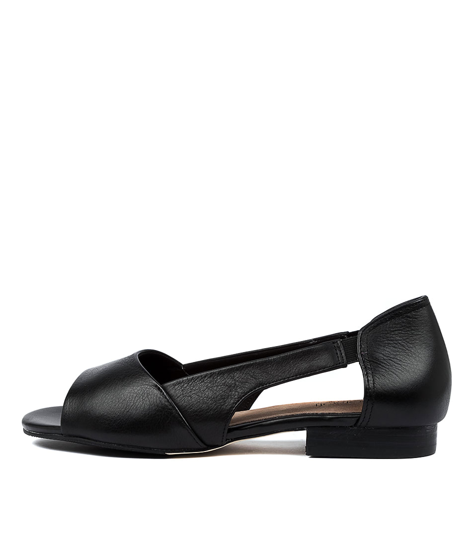 Buy Supersoft Elly Su Black E Flat Sandals online with free shipping