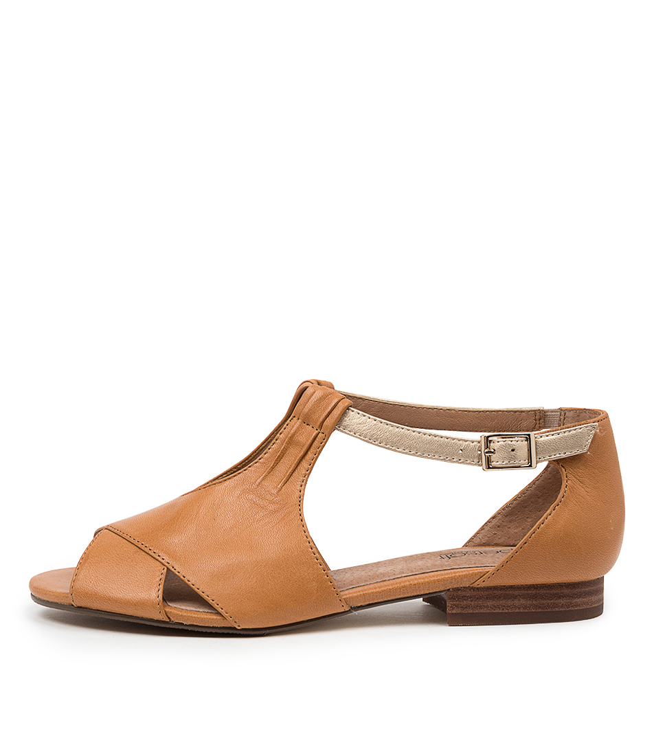 Buy Supersoft Eventine Su Tan Platinum E Flat Sandals online with free shipping