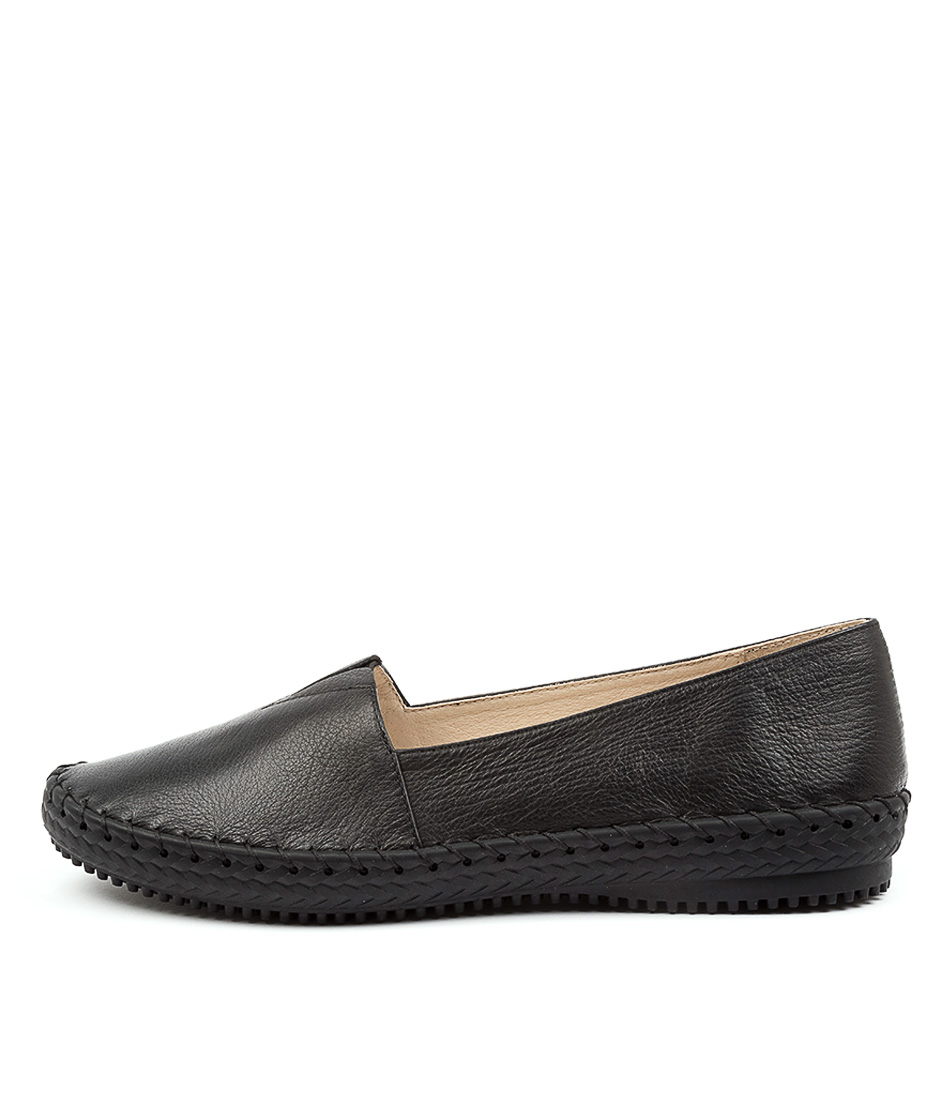 Buy Supersoft Wicker Su Black Sole Flats online with free shipping