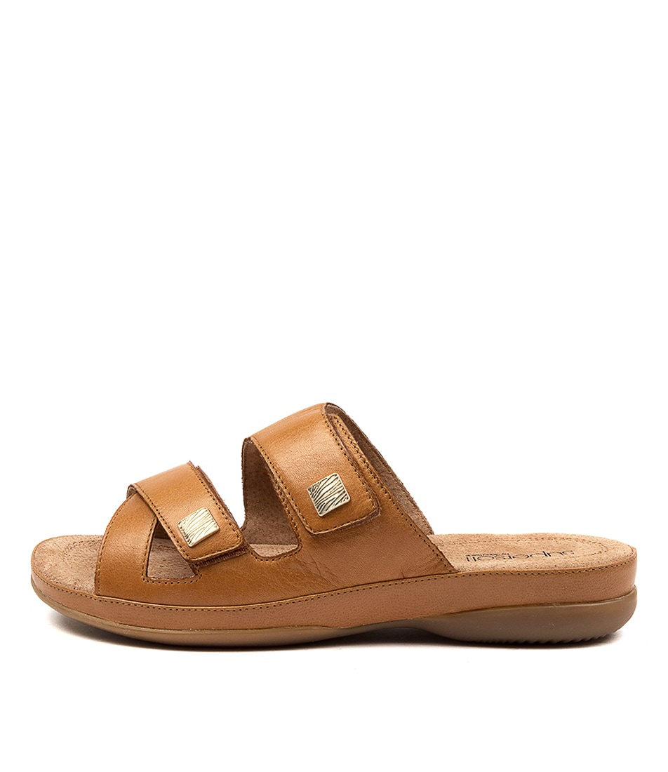 Buy Supersoft Shargold Su Tan E Flat Sandals online with free shipping