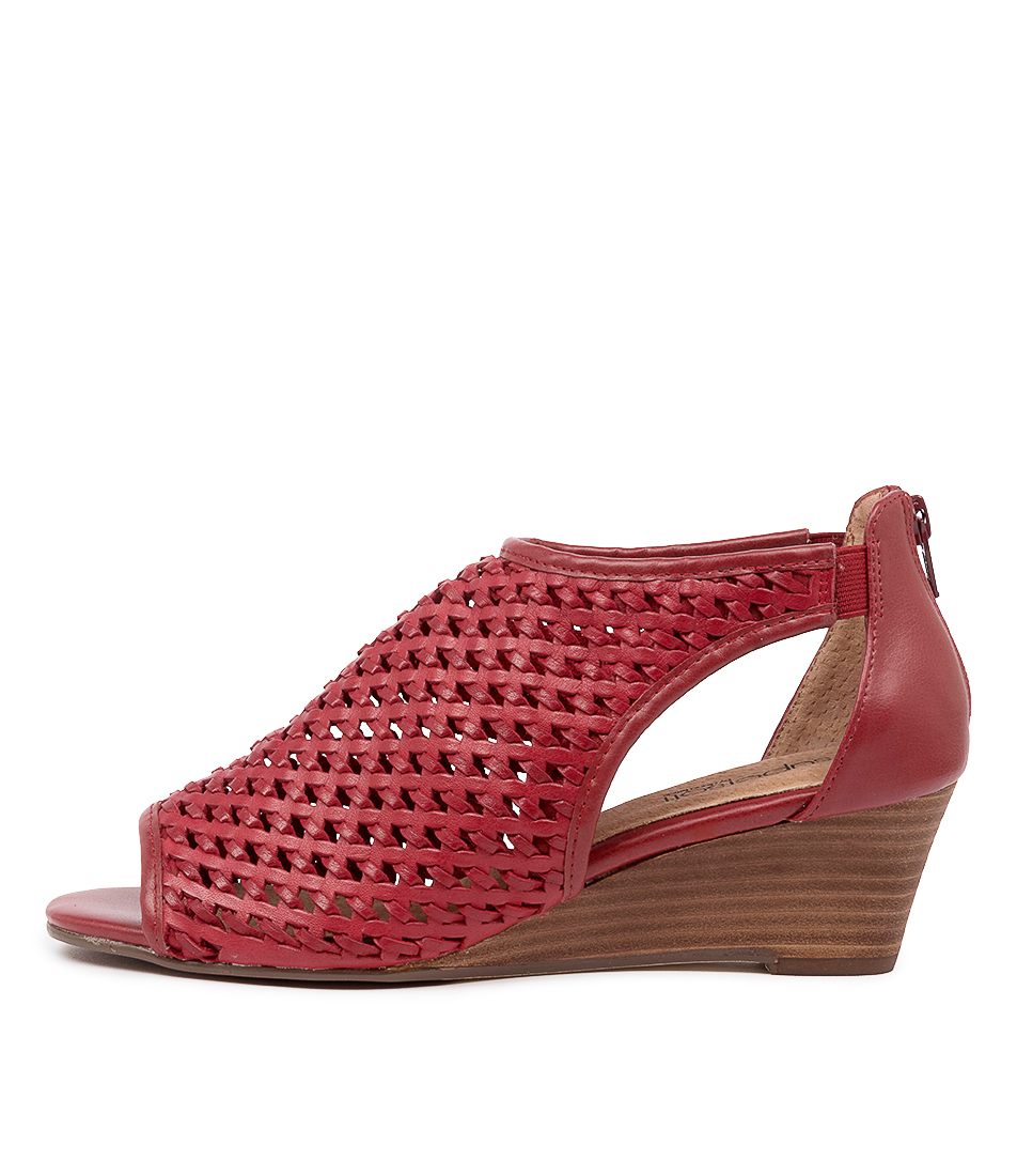 Buy Supersoft Kluger Su Red E Heeled Sandals online with free shipping