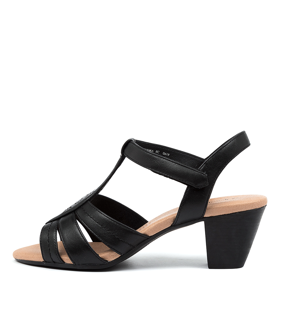 Buy Supersoft Ivanka Su Black E Heeled Sandals online with free shipping
