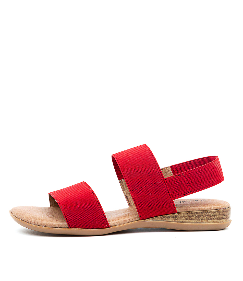 Buy Supersoft Jensen Su Red Flat Sandals online with free shipping