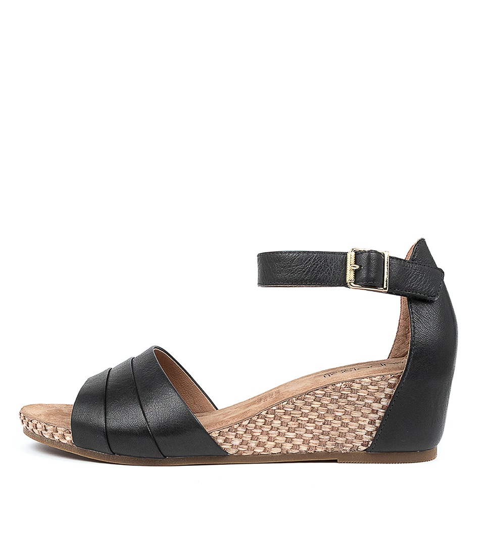 Buy Supersoft Racquel Su Black E Heeled Sandals online with free shipping