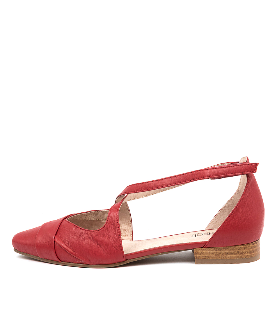 Buy Supersoft Laveda Su Red Flats online with free shipping