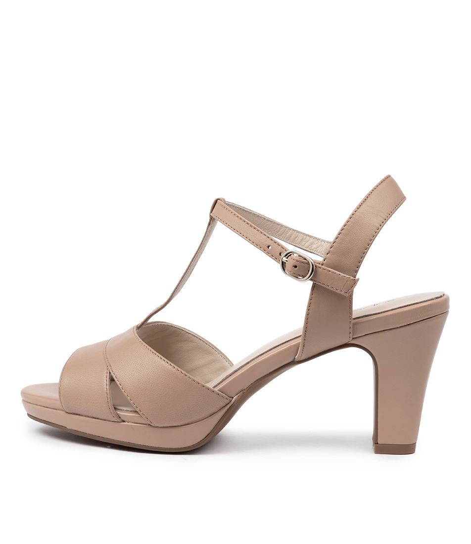 Buy Supersoft Sable Su Nude Heeled Sandals online with free shipping